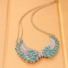 Turquoise Beads Angel Wing Statement Necklace - Florence Scovel - 2