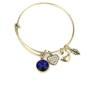 September Birthstone Charm Bangle - Florence Scovel - 1
