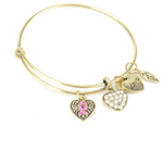 Pink Ribbon Charm Bangle - Florence Scovel - 3