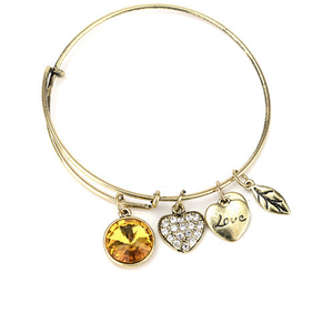 November Birthstone Charm Bangle - Florence Scovel - 1