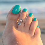 Unique Retro Silver Plated Toe Ring - Florence Scovel - 1