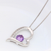 Crystal Heart Silver Pendant(Purple) - Florence Scovel - 4
