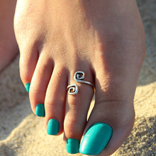 Unique Retro Silver Plated Toe Ring - Florence Scovel - 3