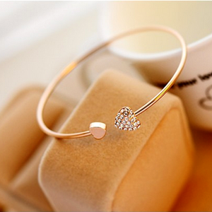 Crystal Heart Bangle - Florence Scovel - 3