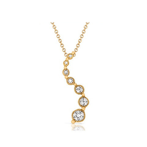Diamond Accent Journey Pendant in Gold-Plated - Florence Scovel