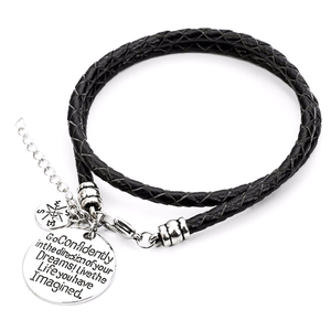 Confidently Dream - Hand Stamped Bracelet - Florence Scovel