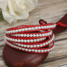 White Pearl on Red Leather - Florence Scovel - 2