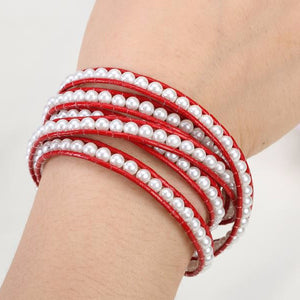 White Pearl on Red Leather - Florence Scovel - 3