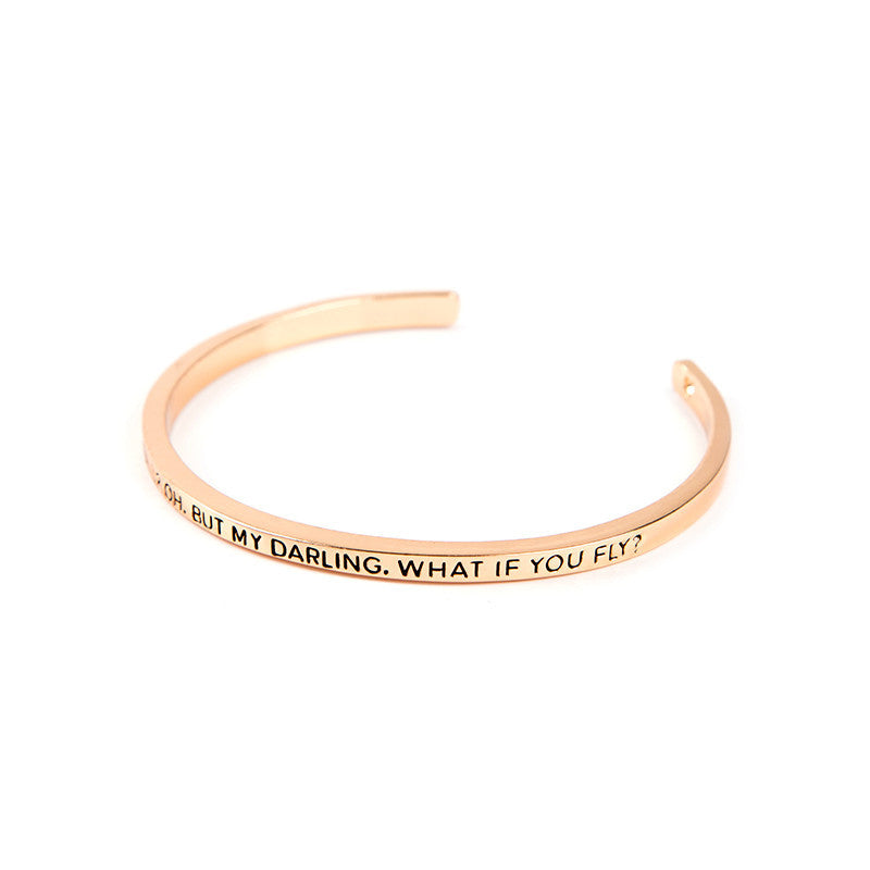What If I Fall ? What If You Fall ? Cuff Bangle - Florence Scovel - 2