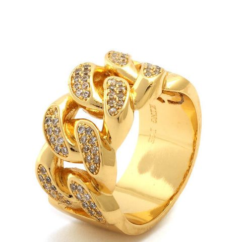 Yellow-Gold Chain Link Ring - Florence Scovel - 2
