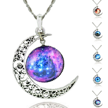 Starry Galaxy & Moon Necklace - Florence Scovel - 1