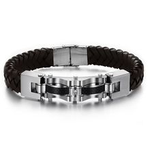 Armageddon Wing Men's Stainless Steel Bracelet (Brown) - Florence Scovel - 1