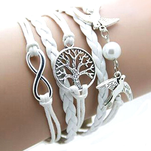 Double Birds Pearl Infinity Tree