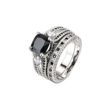 Black Agate Square Ring