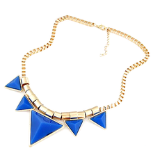 Bold Triangle Statement Necklace - Florence Scovel - 1