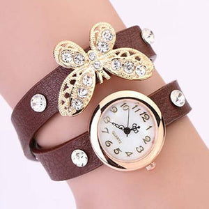 Butterfly Diamond Leather Watch - Florence Scovel - 4