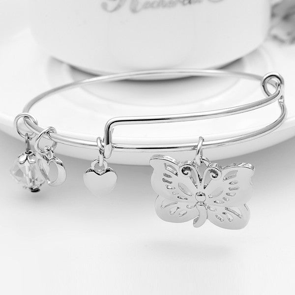Butterfly Charm Bangle - Florence Scovel