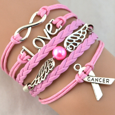 Pink Angel Cancer Awareness Bracelet - Florence Scovel - 1