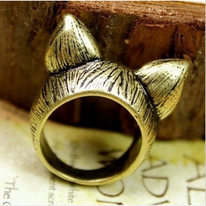 Vintage Kitty Love Ring - Florence Scovel - 3