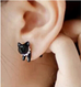 Two Sided Kitten Stud Earring - Florence Scovel - 2
