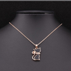 Rose Gold Cat Pendant - Florence Scovel - 2