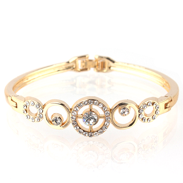 Gold Plated Crystal Bangle - Florence Scovel - 1