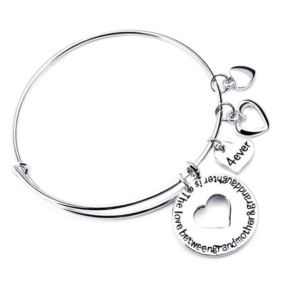 The Love Between Grandmother and Granddaughter is 4ever-Bangle - Florence Scovel