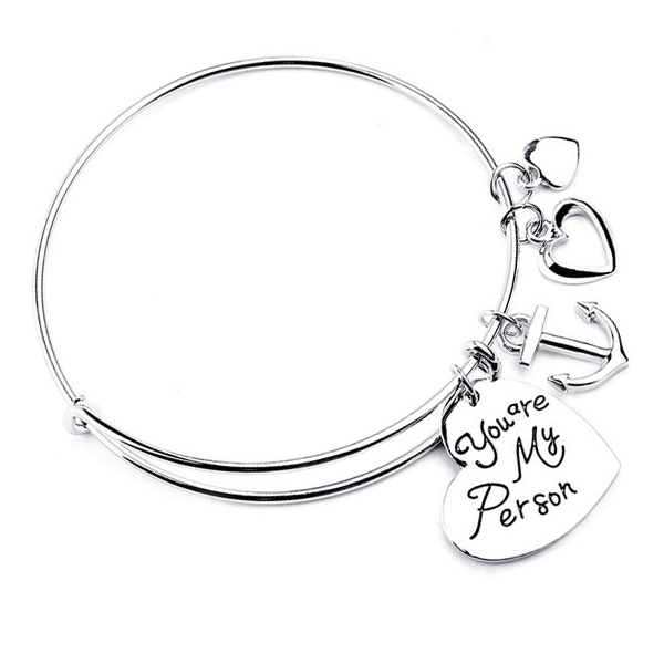 Charm Bangle : You are my person - Florence Scovel
