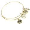 Rose Heart Charm Bangle - Florence Scovel - 1