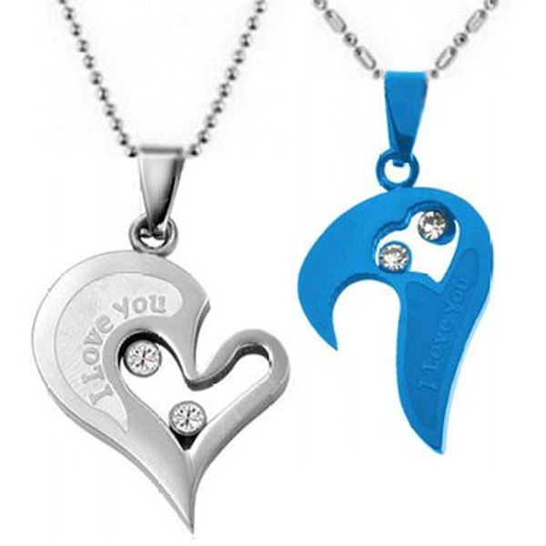 I Love You Mutual Affinity Heart Titanium Steel Lover Necklaces - Florence Scovel - 2