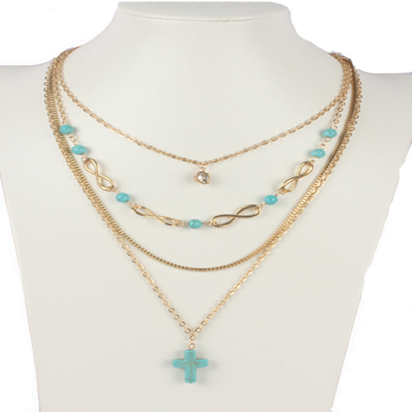 Turquoise Cross Chic Necklace - Florence Scovel - 2