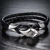 Men's Angels Wing Silver Plated Bracelet - Florence Scovel - 2