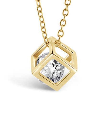 Gold Cube Necklace - Florence Scovel