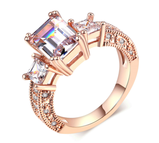 Square Cubic Wedding Ring