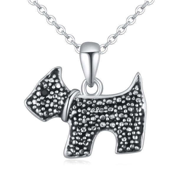 Dog Enamel Necklace - Florence Scovel