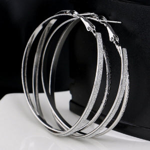 Double Band Stardust Hoop Earrings - Florence Scovel - 4