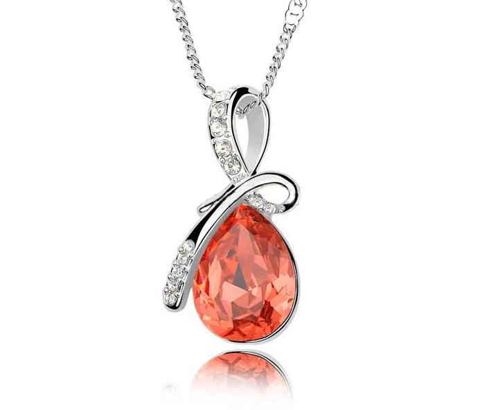 Crystal Rain Drop Pendant with Crystal Embellished Loop - Florence Scovel - 1