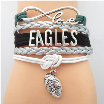 Philadelphia Eagles Football Bracelet - Florence Scovel