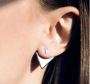 Double Triangle Stud Earring - Florence Scovel - 2