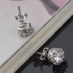 Silver Crown Earrings - Florence Scovel - 4