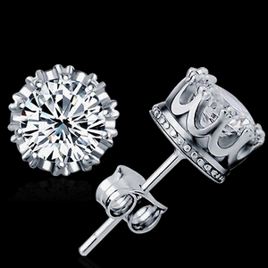 Silver Crown Earrings - Florence Scovel - 2