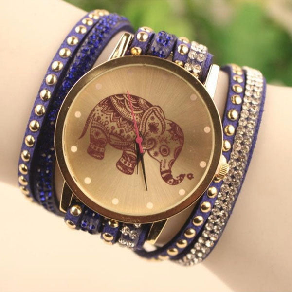 Boho Wrap Elephant Watch