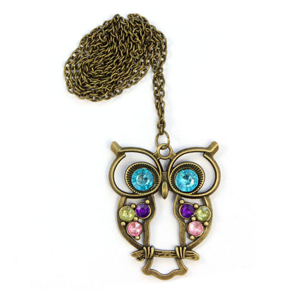 Blue Eyes Owl Pendant