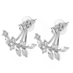 Chic Rhine-stoned Leaf Branch Earrings For Women - Florence Scovel - 4