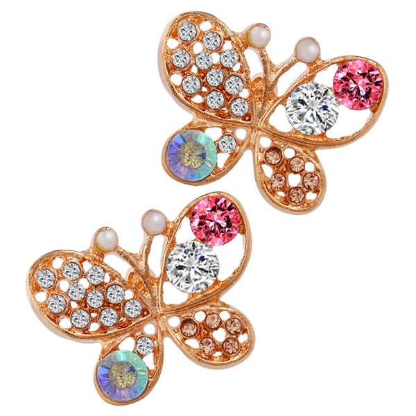 Colorful Butterfly Earrings - Florence Scovel - 1