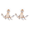 Chic Rhine-stoned Leaf Branch Earrings For Women - Florence Scovel - 1