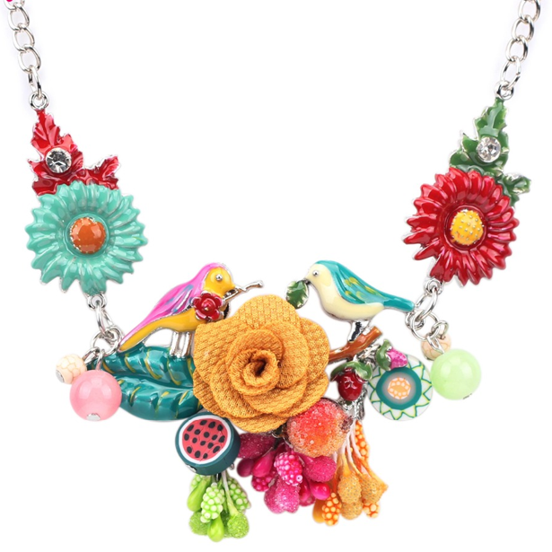 Flower Pendant Necklace - Florence Scovel - 1