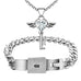 Angel Love Pendant & Men's Bracelet Set - Florence Scovel - 1