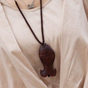 Wooden Fish Necklace - Florence Scovel - 3