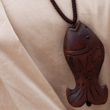Wooden Fish Necklace - Florence Scovel - 2